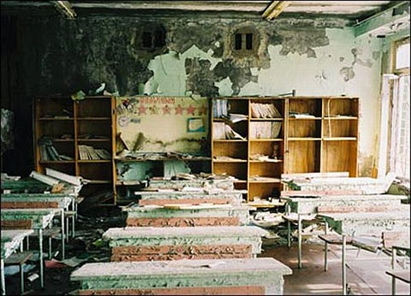 Фото дома в Чернобыле бросившего людьми