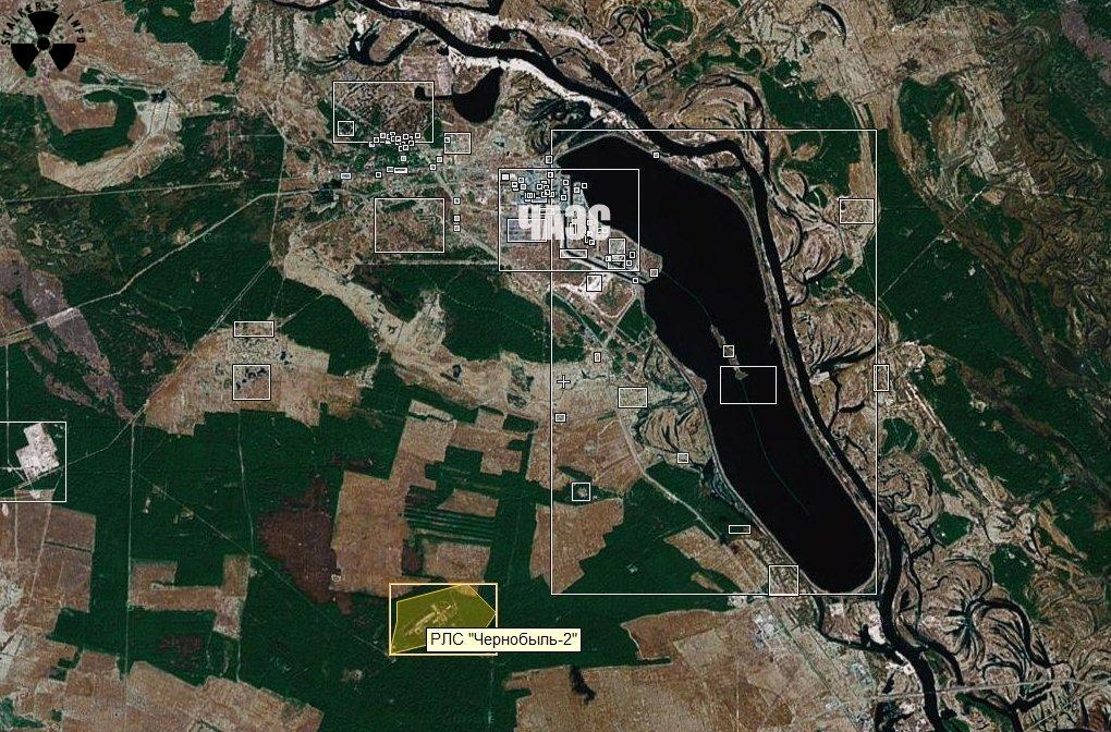 Чернобыль 2 на карте гугл