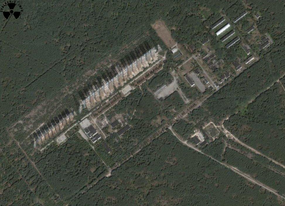 ЗГРЛС Дуга Чернобыль 2 на карте гугл