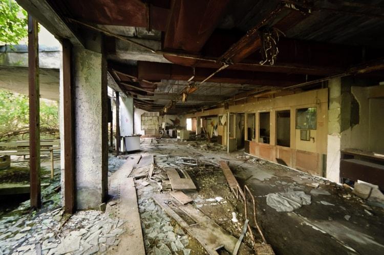 Фото дома Чернобыля после аварии