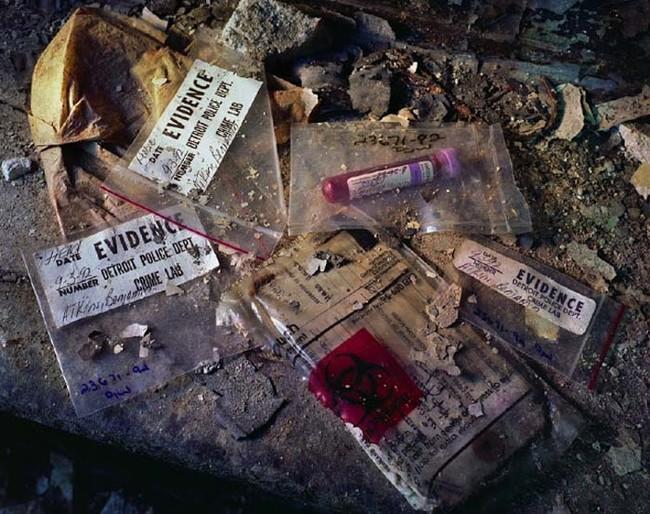 Образцы крови в полицейском участке Хайленд-Парк
