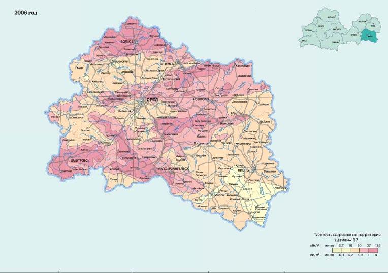 Иллюстрация на тему Зона заражения Чернобыльской АЭС: карта последствий взрыва